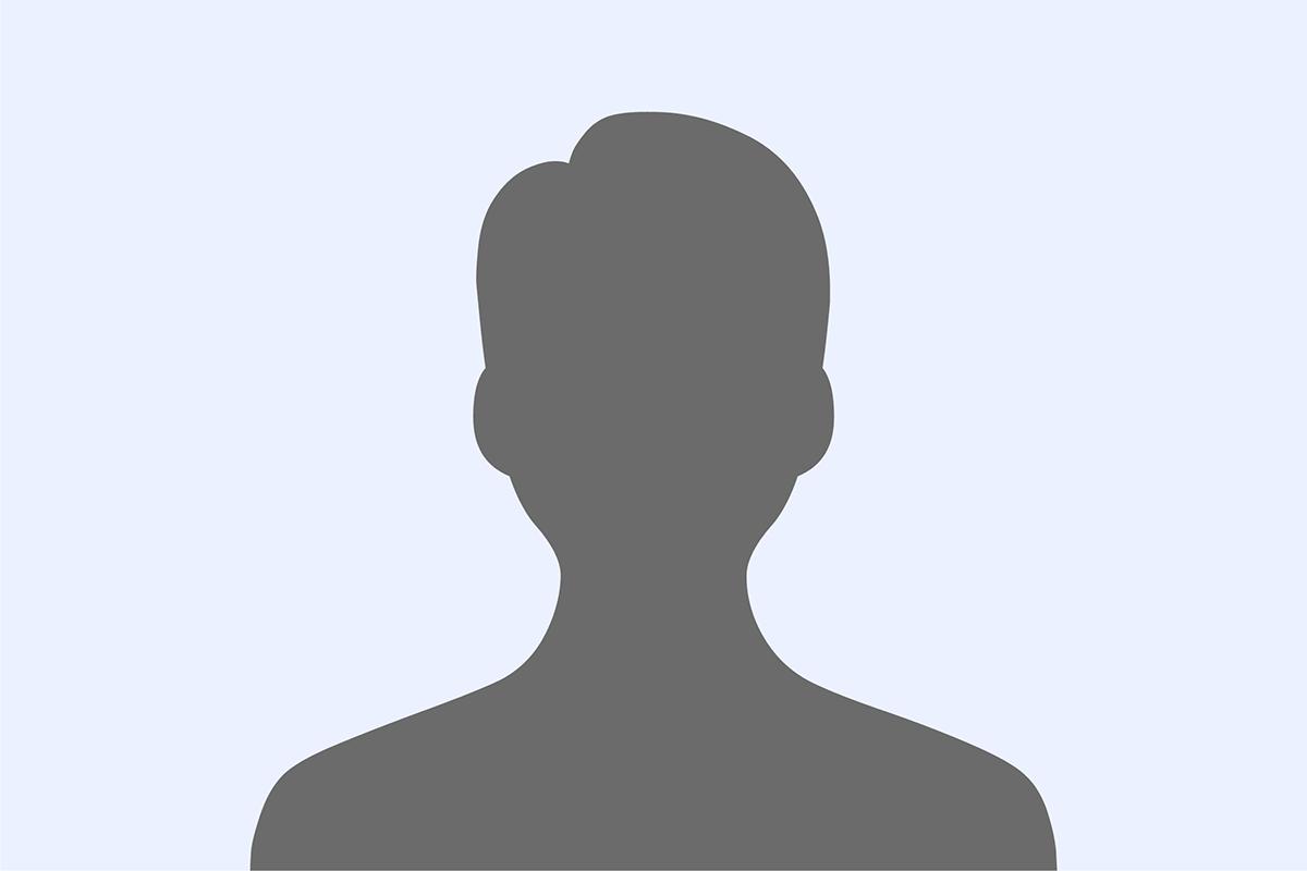 Graue Silhouette einer männlichen Person auf hellblauem Hintergrund